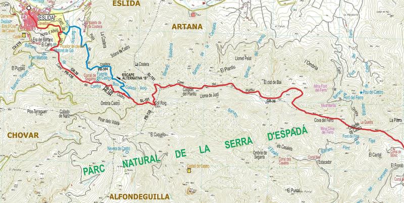CRÒNICA DEL GR-36 D'ARTANA A LA VILAVELLA. 10-5-2017