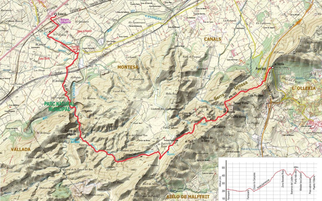 Crònica de Montesa-Barranc de la Fos-Port de l'Olleria 29-11-2017