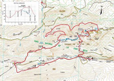 Mapa Font Roja