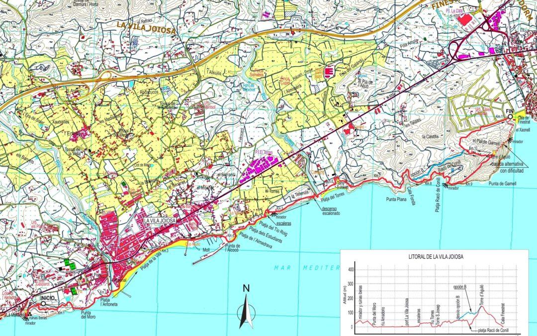 LA VILA JOIOSA: LITORAL CENTRE I EST (7 – 11 – 2018)