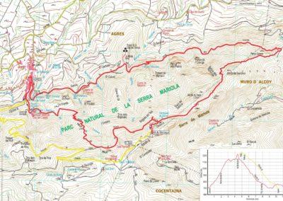 Mapa Agres-Montagut