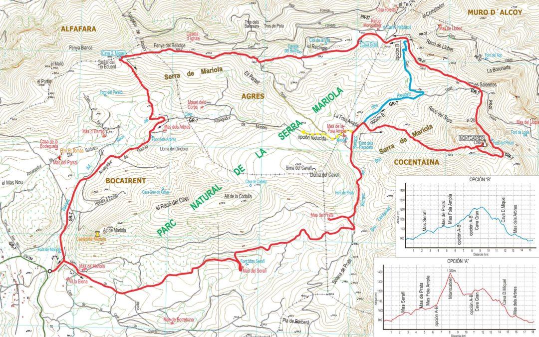 Crònica Font de Mariola – Montcabrer – cava de En Miquel 15 – 11 – 2017