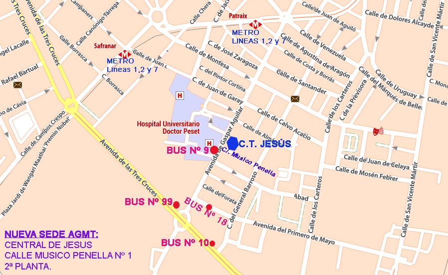 Cambio domicilio social AGMT Valencia