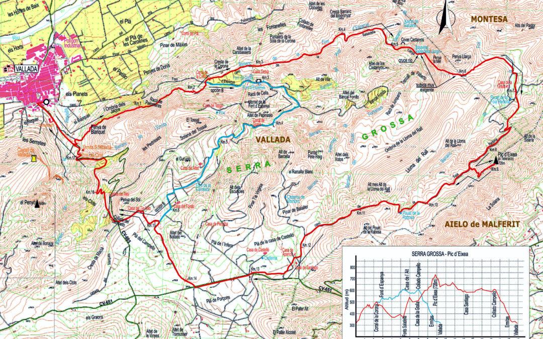 CRÒNICA VALLADA SERRA GROSSA – ALT D'EIXEA – VALLADA (15 – 5 – 2019)