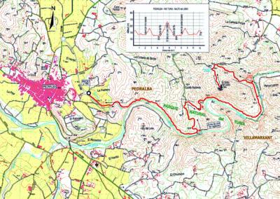 Mapa Turia Pedralba