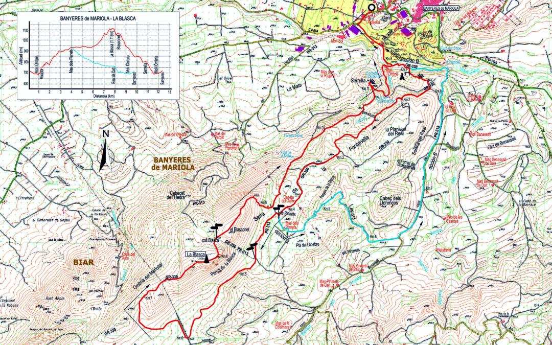 CRÒNICA BANYERES DE MARIOLA-LA BLASCA (1120 m) VEINTICINCOMILES (27 – 11 – 2019)