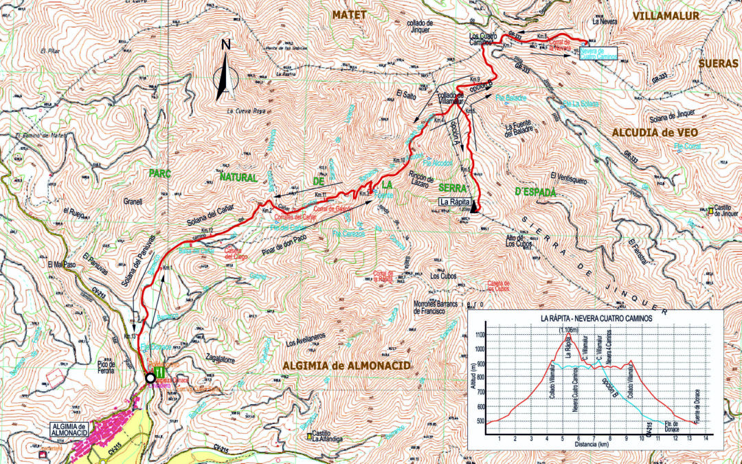 CRÒNICA ALGÍMIA D'ALMONESSIR – CIM DE LA RÀPITA  O ALTO DE LOS CUBOS ( 1.106 m) – LA NEVERA DE CUATRO CAMINOS  (11 – 12 – 2019)