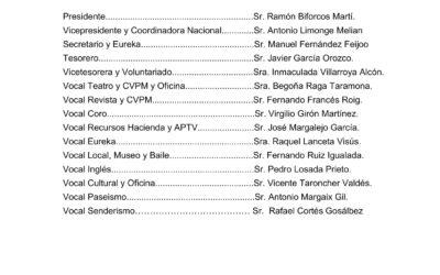 Publicación de la candidatura única y definitiva a la Comisión Gestora de AGMTV en las próximas elecciones de 27-02-20