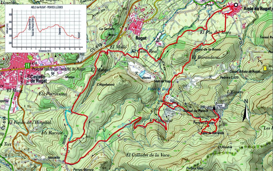 CRÒNICA AIELO DE RUGAT – PENYES LLÚCIES – AIELO DE RUGAT (27 – 02 – 2020)