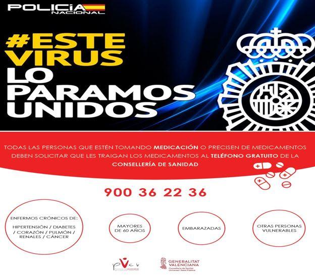 RECOMENDACIONES POLICÍA NACIONAL – CEOMA Y AVISO MEDICAMENTOS CONSELLERÍA DE SANIDAD